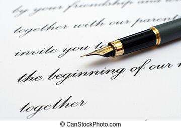 Liebe, Brief