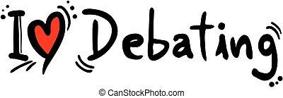 liebe, debattieren