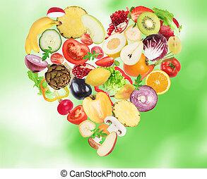 liebe, gesundes essen