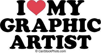 liebe, grafik, mein, künstler