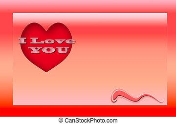 liebe, gruß, valentinestag, karte
