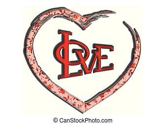 Liebe, Herz, Vektor, Design - liebe, herz, vektor, design
