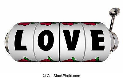 liebe, jackpot, automat, räder, wählscheiben, romanze, gewinnen, glücklich, kasinospiel