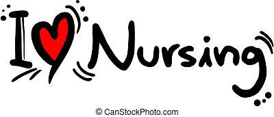 liebe, krankenpflege