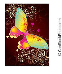 liebe, papillon
