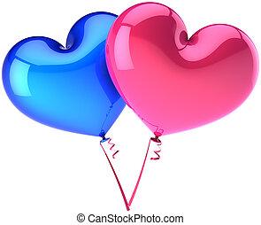 liebe, sie, luftballone
