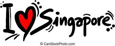 liebe, singapur