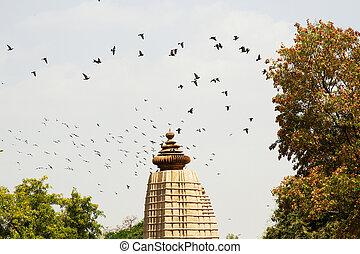 liebe, tempel, jahrhundert, hindu, kajuraho, 10.