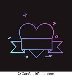 liebe, vektor, design, ikone