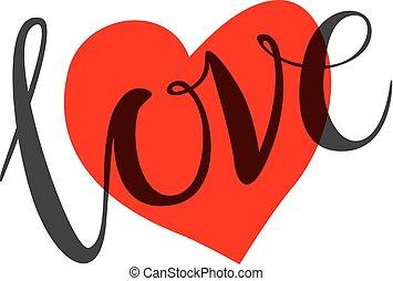 lieben herz, form, design, für, liebe, symbols.