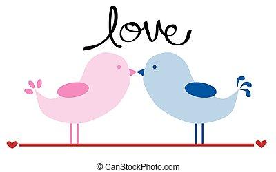 lieben vögel