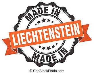 liechtenstein , γινώμενος , στρογγυλός , σφραγίζω