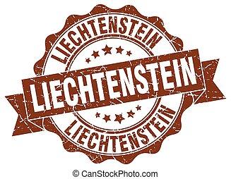 liechtenstein , στρογγυλός , ταινία , σφραγίζω