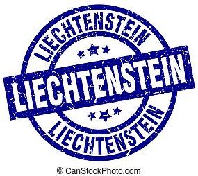 Liechtenstein blue round grunge stamp