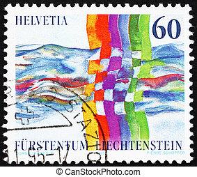 LIECHTENSTEIN - CIRCA 1995: a stamp printed in the ...