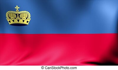 Liechtenstein Flag. Background Seamless Looping Animation.