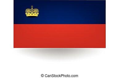 Liechtenstein Flag - Official flag of Liechtenstein.