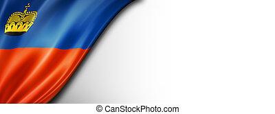 Liechtenstein flag isolated on white banner - Liechtenstein ...