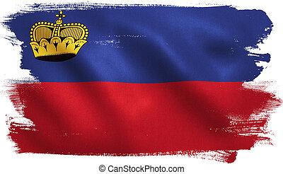 Liechtenstein Flag - Liechtenstein flag with fabric texture....