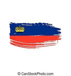 liechtenstein flag, vector illustration on a white...