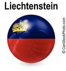 liechtenstein, funcionario, bandera, estado
