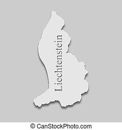 liechtenstein, mapa