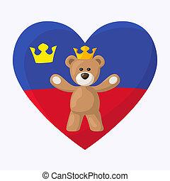 Liechtenstein Royal Teddy Bear - Teddy Bear with crown and ...