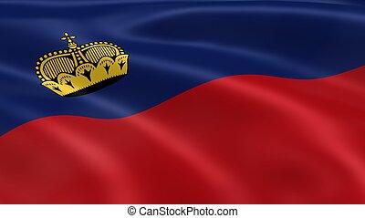 Liechtensteiner flag in the wind