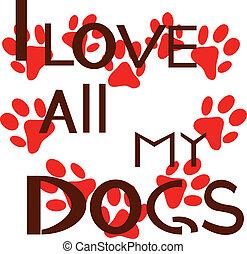 liefde, alles, honden, mijn