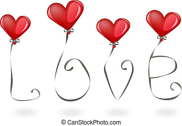 liefde, ballons
