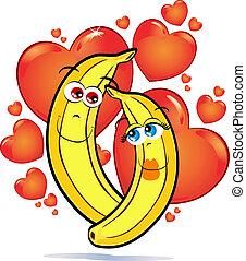 liefde, bananen