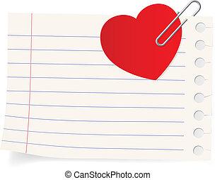 liefde brief, icon.