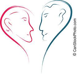 liefde, gezichten