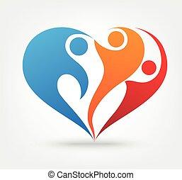 liefde, gezin, pictogram