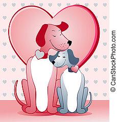 liefde, honden