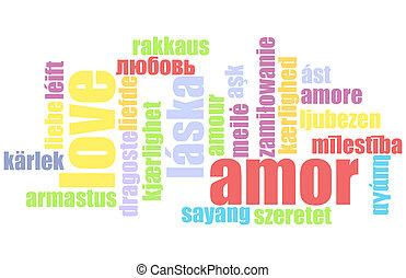 liefde, in, velen, talen