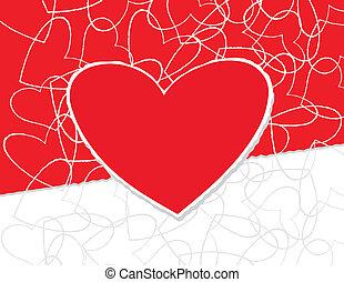 liefde, kaart, koel