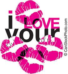 liefde, kussen, jouw
