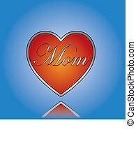 liefde, mamma, concept, illustratie