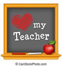 liefde, mijn, leraar