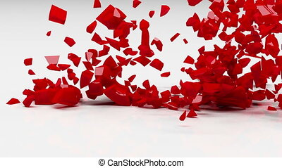 liefde, ontploffing, vertragen