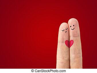 liefde, ?, paar, vrolijke