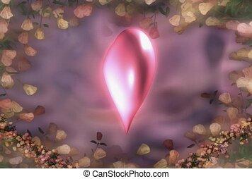 liefde, romaans, hart