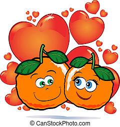 liefde, sinaasappel