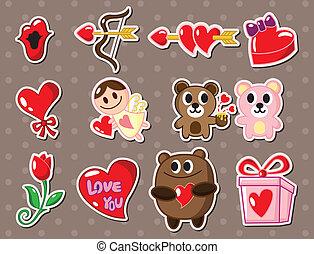 liefde, stickers