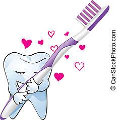 liefde, tand