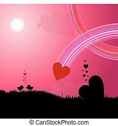 liefde, vogels