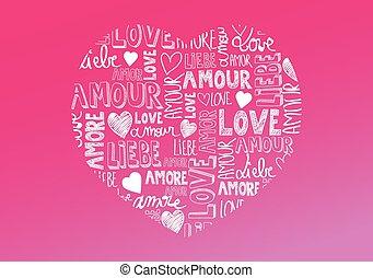 liefde, woorden