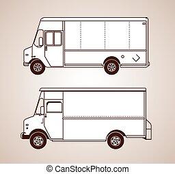 lieferung lastwagen