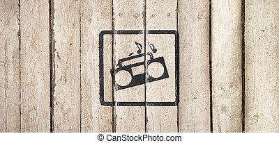 lieferung, symbols., bedingungen, service., conditions., klub, land, interior., zeichen & schilder, weinlese, style., auslieferung, wagen, schiffahrt, nacht, sorgfalt, bar
